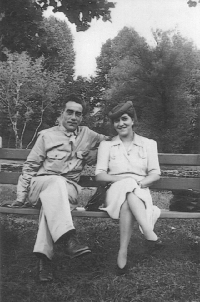My father Charles H Moore and his sister Ethel Moore Hunter. Between 1941 and 1943.